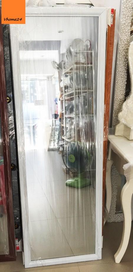 Gương soi toàn thân khung nhôm trắng 01