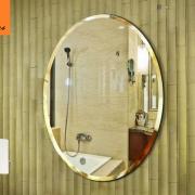 Gương vệ sinh oval trơn 03