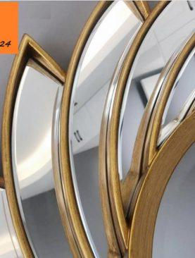 GƯƠNG DECOR TREO TƯỜNG TRANG TRÍ HÌNH BÔNG HOA XOÁY GTR158