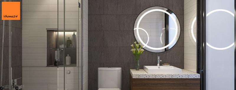 Gương nhà tắm tròn đèn led (Copy)